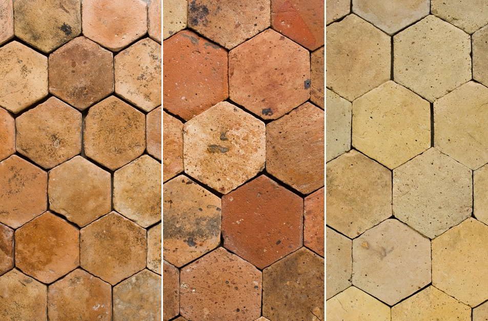 Chateau Domingue Reclaimed Terracotta Flooring Tiles